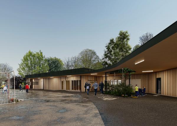 Un nouveau projet de restaurant scolaire pour ATELIER 970 dans le Calvados