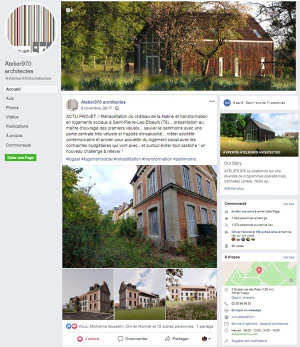 Actualités Atelier 970, architectes à Yvetot près de Rouen sur Facebook