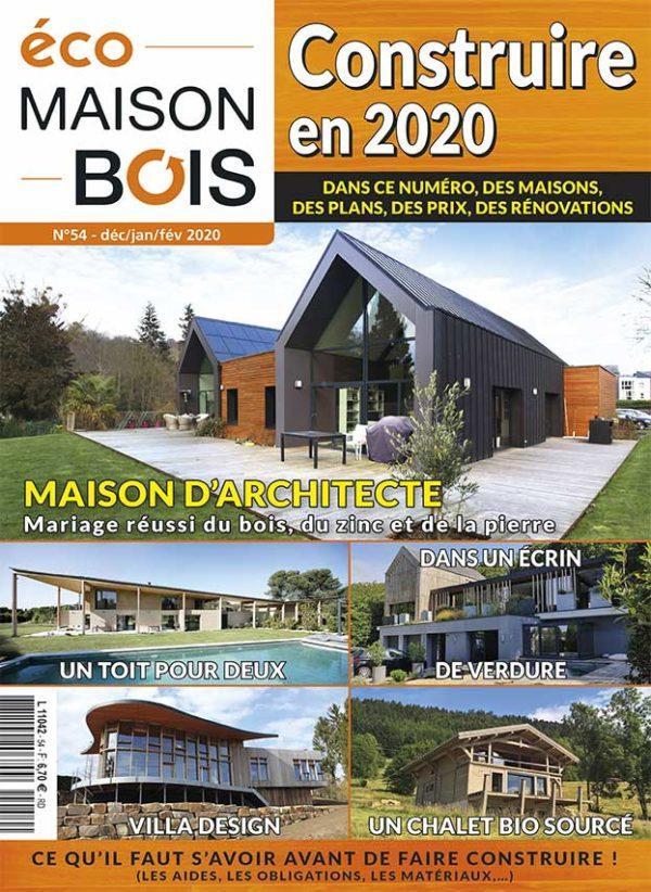 Maison à énergie positive de Pavilly a les honneurs du magazine Eco Maison Bois n°54