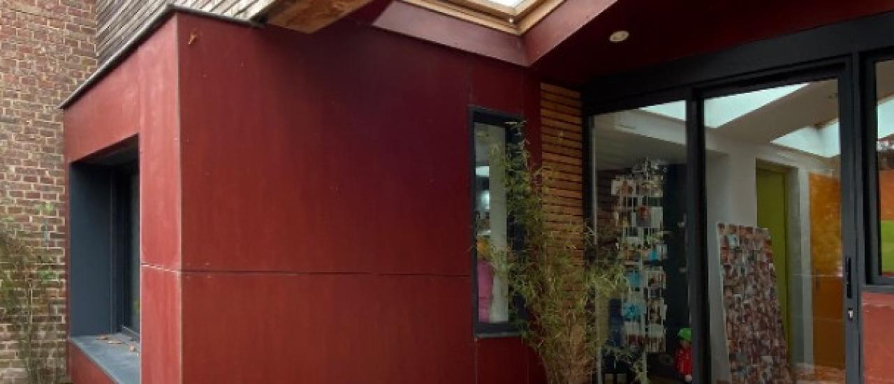 Métamorphose d'un ancien garage transformé en salon & création d'un mobilier sur mesure(76)