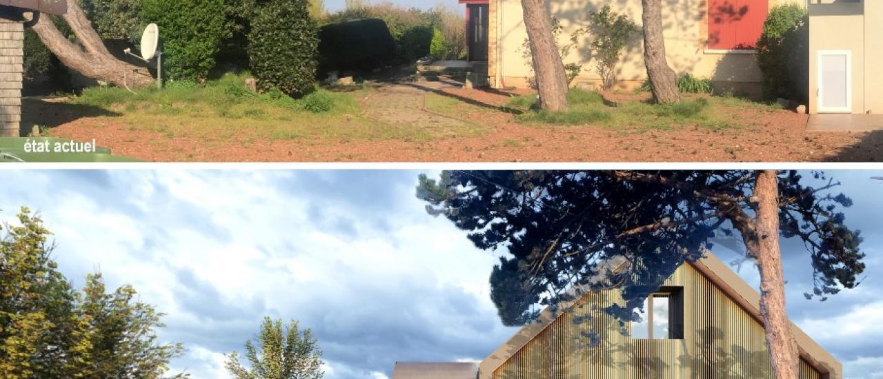 Mue contemporaine & biosourcée pour la rénovation d'une maison individuelle (76)