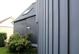 Agrandissement pour une liaison verticale de zinc et de bois  à Yvetot (76)