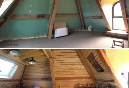 Aménagement d'un comble en chambre d'adolescent et mezzanine à Yvecrique (76)