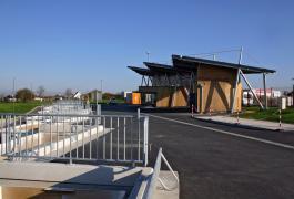 Déchèterie communautaire en bois thermo-traité à Fleury/Orne (14)