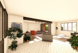 Agrandissement et ré-aménagement intérieur d'un pavillon (76)