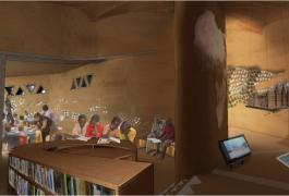 Pavillon d'exposition en terre au Musée National Boubou Hama de Niamey - Niger
