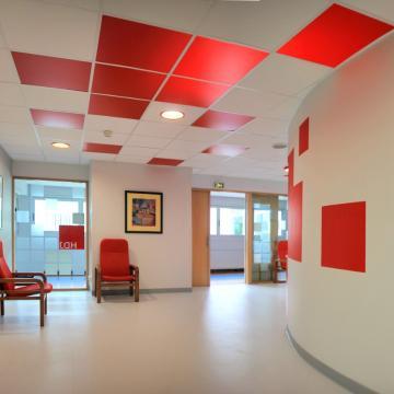 Pixels colorés pour un service d'Hospitalisation de jour (Bois Guillaume - 76)