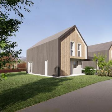 3 maisons locatives passives biosourcées à Sainte- Marguerite-sur-Duclair (76)