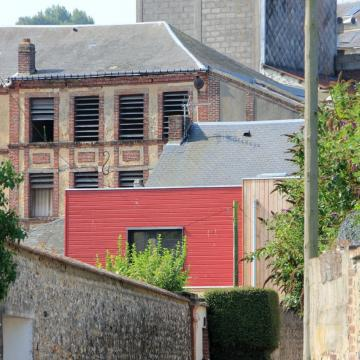 Bois rouge pour un agrandissement d'une maison fécampoise (76)